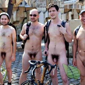 a crowd of guys outdoors
