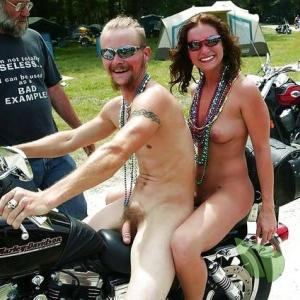 A nudey all tattooed up at the campground