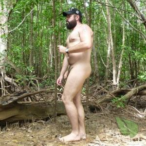Solo dude in the wilderness