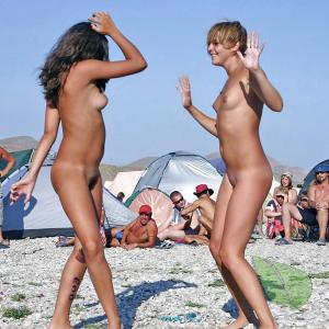 One nudists outdoors