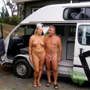 One nudist at the campground