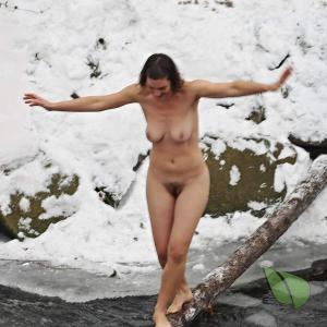 A girl outdoors