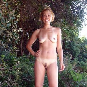 A nudists in the forest