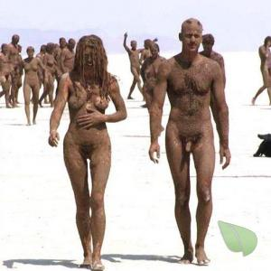 a bunch of nude person out and about