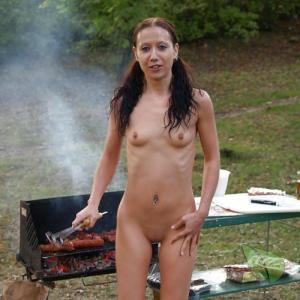 A nudists at the campground