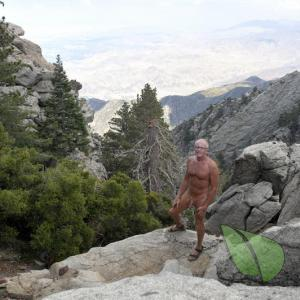 Solo male out hiking in the wilderness