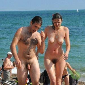 Solo nudists showing off their tats in the woods