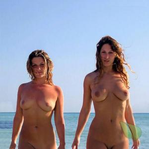 One nudists at the beach
