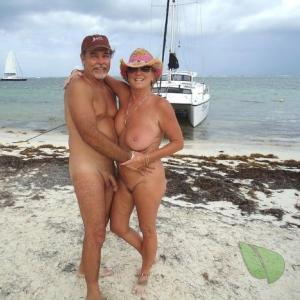 Solo nudist in the wild