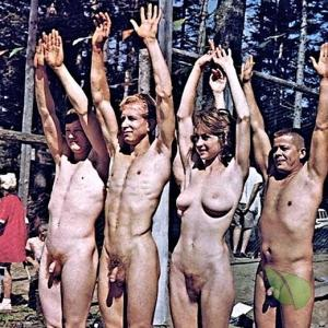 a bunch of naturist staying active out and about