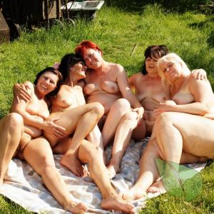 a bunch of women relaxing at home