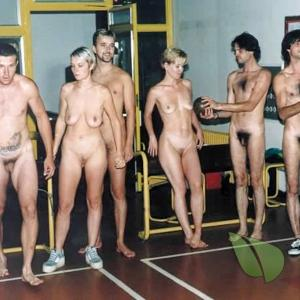 a couple naturists having fun