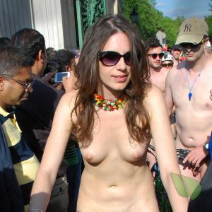a group of nude people outdoors