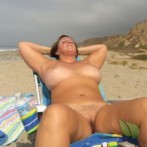 A nudists outside