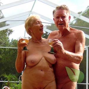 A nudist couple