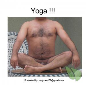 A male practicing asanas