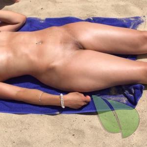 One female on the beach