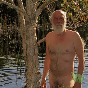 Solo nudist outdoors