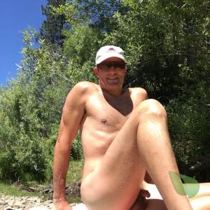 A male in nature