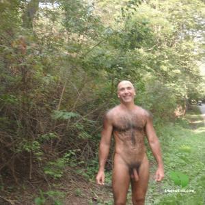 A guy enjoying nature outside
